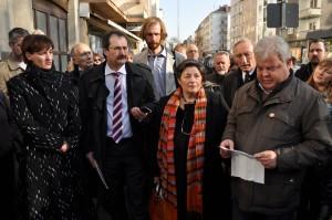 Die Redner bei der Gedenkveranstaltung (Foto: T. Werum)