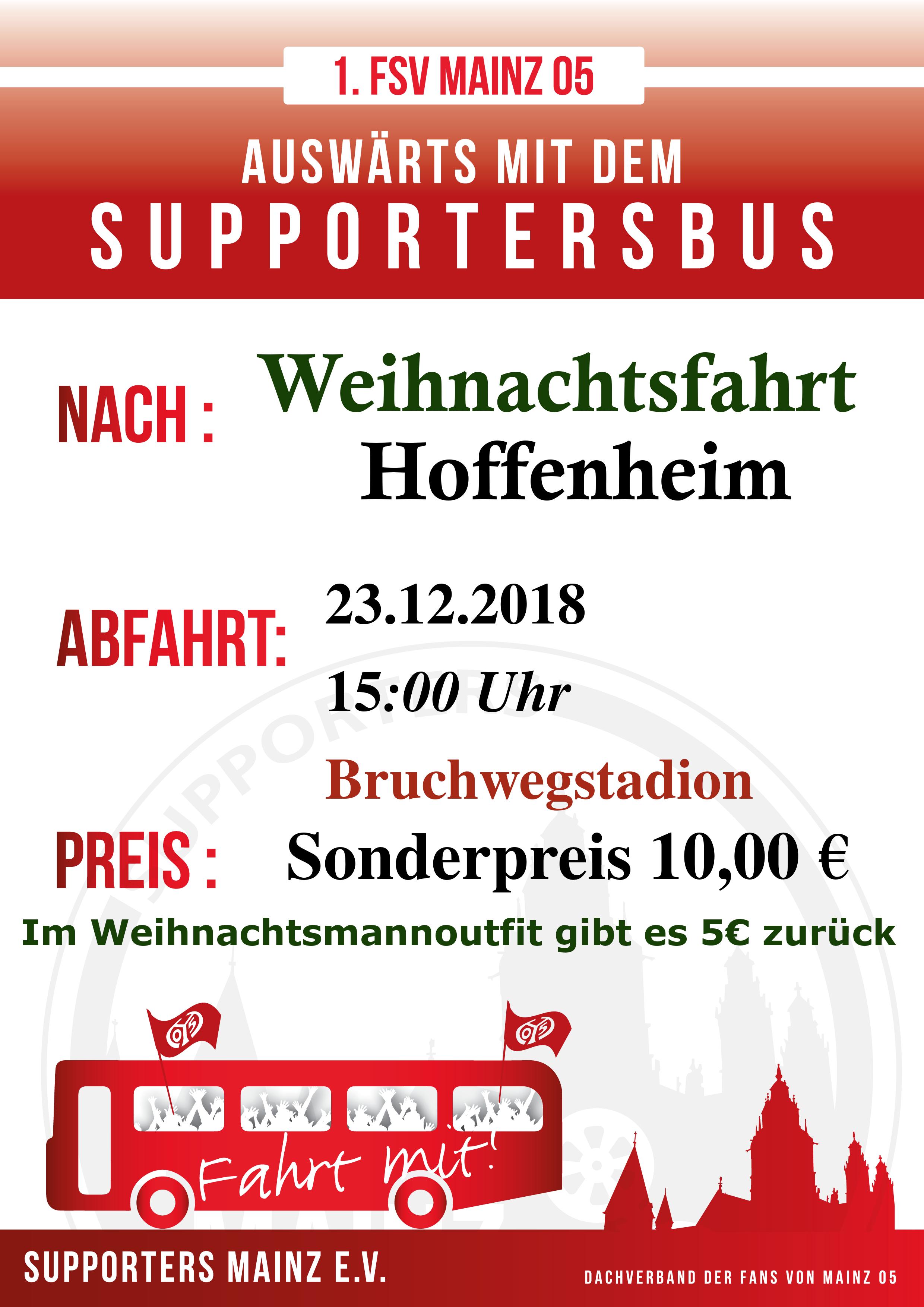 Weihnachtskekse Preise 2019.Weihnachtsfahrt Nach Hoffenheim Supporters Mainz